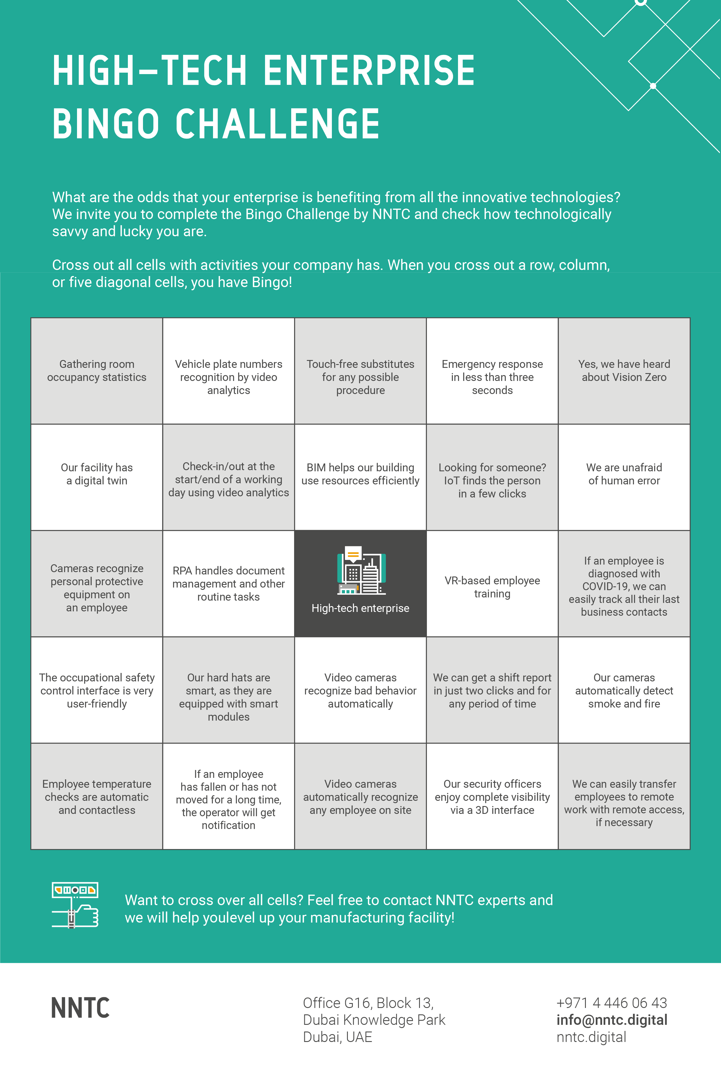 High-tech bingo challenge